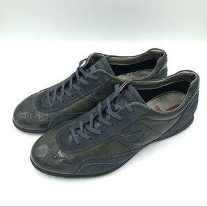 Ecco women's shoes grey/green sz 41/11